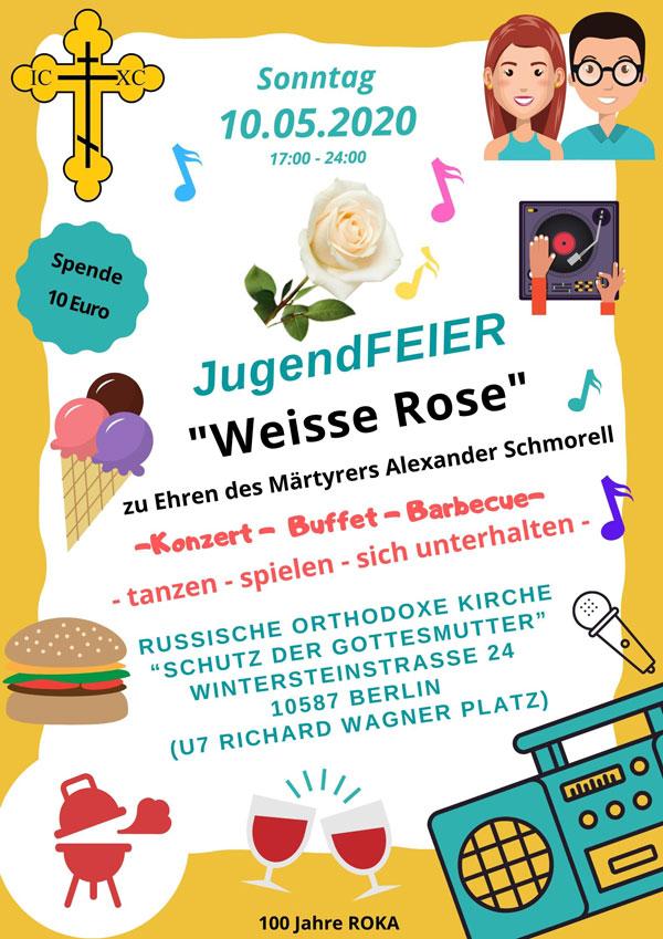 Jugendfeier 2020 JugendFEIER Weisse Rose